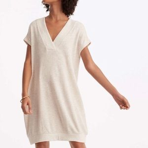 Lou & Grey | cream v neck knit sweater dress